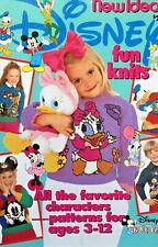 New Idea Disney Fun Knits Vintage Knitting Patterns Book Favourite Characters