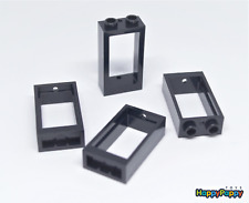 Lego 4x Fenster 1x2x3 Schwarz Black Window 60593 Neuware / New