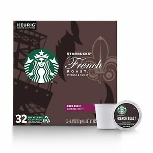 Keurig Starbucks French Roast K Cups Dark 32 Count Brand New FREE SHIPPING!