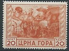 1943 MONTENEGRO IL SERTO 20 CENT MNH ** - ED678