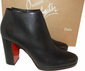 CHRISTIAN LOUBOUTIN Pastuer Block Heel Bootie, Pumps Heel 38.5