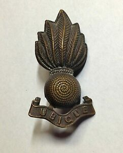 WW2 BRASS CAP BADGE GREAT BRITAIN ROYAL REGIMENT OF ARTILLERY GENUINE