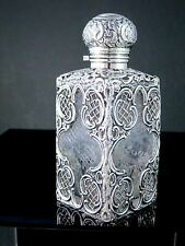 Victorian 1894 DUNCAN & SCOBBIE Sterling Silver CUT CRYSTAL GLASS PERFUME BOTTLE