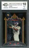 Randy Moss / Dwight 1998 Playoff Momentum Rookie Double Feature #8 BGS BCCG 10
