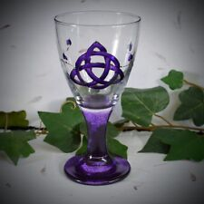 Hand Decorated Witches Chalice with Triquetra Wicca Pagan Altar Witchcraft