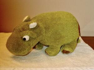 """Vintage  Merrythought Hippopotamus  5"""" x 11""""  England"""