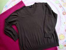Superschöner weiter Feinstrick Pullover braun V Ausschnitt H&M BB  Gr. 44 46