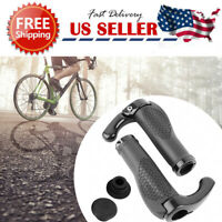 1 Pair Mountain MTB Cycling Bike Bicycle Lock-On Handlebar Grips With Bar Ends