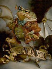 "Disney Fine Art  ""THE INSATIABLE MR. TOAD"" Size: 16 x 12 | Giclée on Canvas"