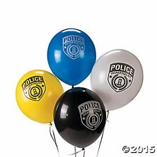 Police Party Balloon Assortment Decorations 12PC LOT POLICE COPS S.W.A.T