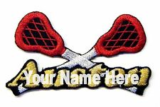 Lacrosse Custom Iron-on Patch With Name Personalized Free