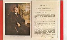BF26808 vermont president coolidge  USA   front/back image