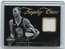 "2011-12 LIMITED #13 STEPHEN CURRY ""TROPHY CASE"" JERSEY CARD SP #46/99, WARRIORS"