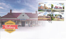 2013 Historic Railway Stations (Gummed Stamps) FDC - Normanton Qld 4890 PMK