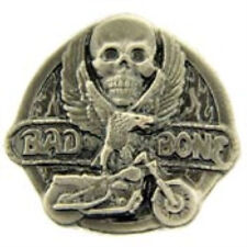 BAD TO THE BONE LAPEL PIN (SK)