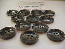 "12 x 1""    4 HOLE COAT BUTTONS in MOTTLE GREY - GREEN"