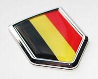 Belgium Flag Decal Car 3D Chrome Emblem Sticker