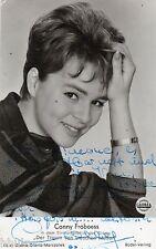 BD486 Carte Photo vintage card RPPC Conny Froboess signé dédicace chanteuse