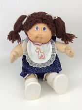"""Vintage 1985 Cabbage Patch Kids Doll Coleco 17"""" Baby Girl Brown Hair Blue Eyes"""