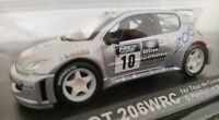 1/43 PEUGEOT 206 WRC TOUR DE CORSE 2000 G. PANIZZI H. PANIZZI COCHE METAL ESCALA