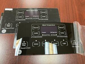GE Refrigerator Dispenser Overlay only for WR55X11086, Genuine OEM, New, 2 sets