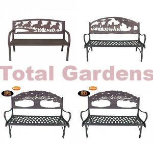Premium Luxury Cast Iron Bench Patio Garden Outdoor Park Benches Brand New