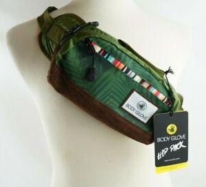 NEW Body Glove Conya Hip Pack Waist Bag Green Tropical Beach Weather Resistant