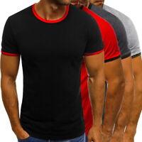 h8 Summer Mens Round Neck T-Shirt Casual Sport Slim Fitness Short Sleeve T-Shirt