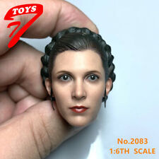 "StockTT TOYS 1/6 NO.2083 Leia Princess Head Sculpt Carving Fit 12"" Action Figure"