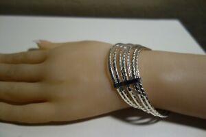 925 Stacks of Diamond Cut Bangle Taxco Mexico 21