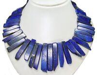Wunderschöne Halskette ausLapislazuli Stabform in verschiedenen Größen 48 cm