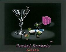 "Michael Godard ""POCKET ROCKETS"" Gambling-Texas Hold Em-Poker-Las Vegas-Poster"