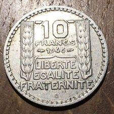 PIECE DE 10 FRANCS TURIN 1946 B RAMEAUX COURTS(196)