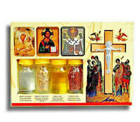 4 Elements,Holy Set,Holy Water,Cross,Jerusalem Soil,Anointing Oil,Resin Incense