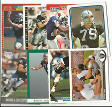 HOWIE LONG LOT of 8 different Football cards Oakland Raiders NR MT