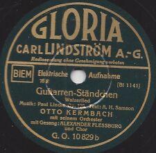 Sänger Alexander Flessburg 1933 mit Otto Kermbach Orchester : Guitarren-Ständche