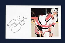 Sean Burke signed New Jersey Devils hockey index card