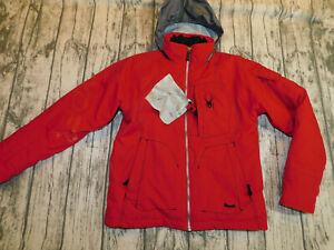 SPYDER SNOW JACKET SKI DURABLE INSULATED HOOD SNOW SKIRT BOY'S 12~GREAT