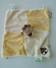 "Noukie's Yellow Lion Yellow Security Blanket Tags 10x10"" Lovey"