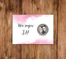 """25 x Save the Date Karten zum Rubbeln """"Aquarell"""", Einladungen Hochzeit"""