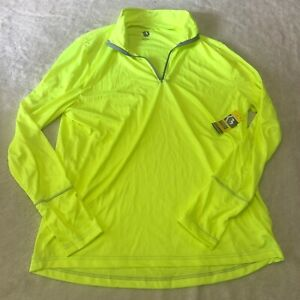 NEW Series 8 Fitness 1/4 Zip Chartreuse Long Sleeve Shirt Men's XL Extra Large