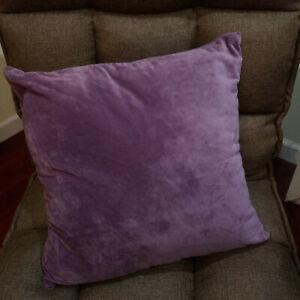 Set of 2 Velvet Cushion Throw Pillow Case Cover Home Decor Sofa 18 x 18