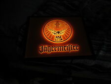 NEW IN BOX JAGERMEISTER SIGN LIGHTED LOGO BAR COLD SHOTS LIQUER PUB MAN CAVE BAR