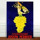 "Stunning Vintage Alcohol Poster Art ~ CANVAS PRINT 24x18"" ~ Champagne Perrier"