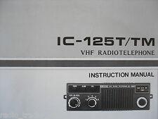 Icom-125t / TM (véritable manuel d'instructions uniquement)........ radio_trader_ireland.