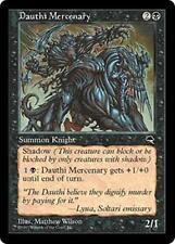 DAUTHI MERCENARY Tempest MTG Black Creature — Dauthi Knight Mercenary Unc