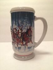 2007 BUDWEISER HOLIDAY STEIN CS678 CHRISTMAS MUG WINTER'S CALM