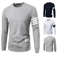 New Stylish Casual Shirts Slim Fit Long Sleeve Men's T-shirt Tops Tee Blouse