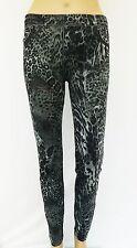 Leopard Leo Muster Leggings Leggins Treggings Hose Leggin 34 36 38 S M 11194-2