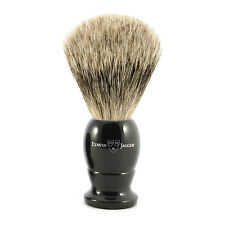 Edwin Jagger - Large Black Best Badger English Shaving Brush in Gift Box